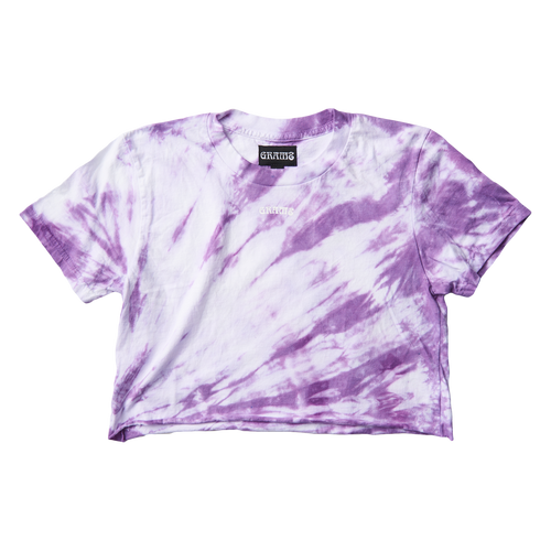 Tie Dye Crop Tee (Purple/Large)