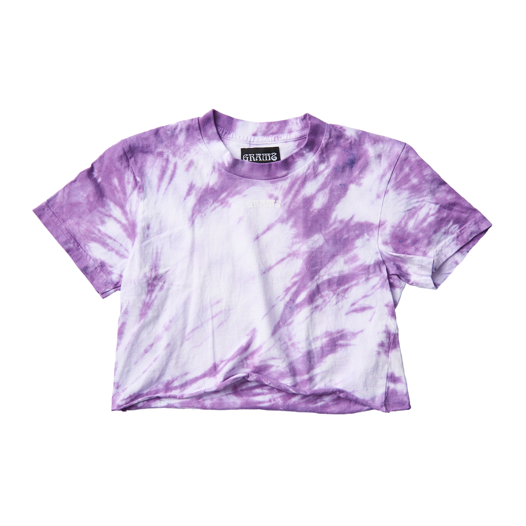 Tie Dye Crop Tee (Purple/Small)