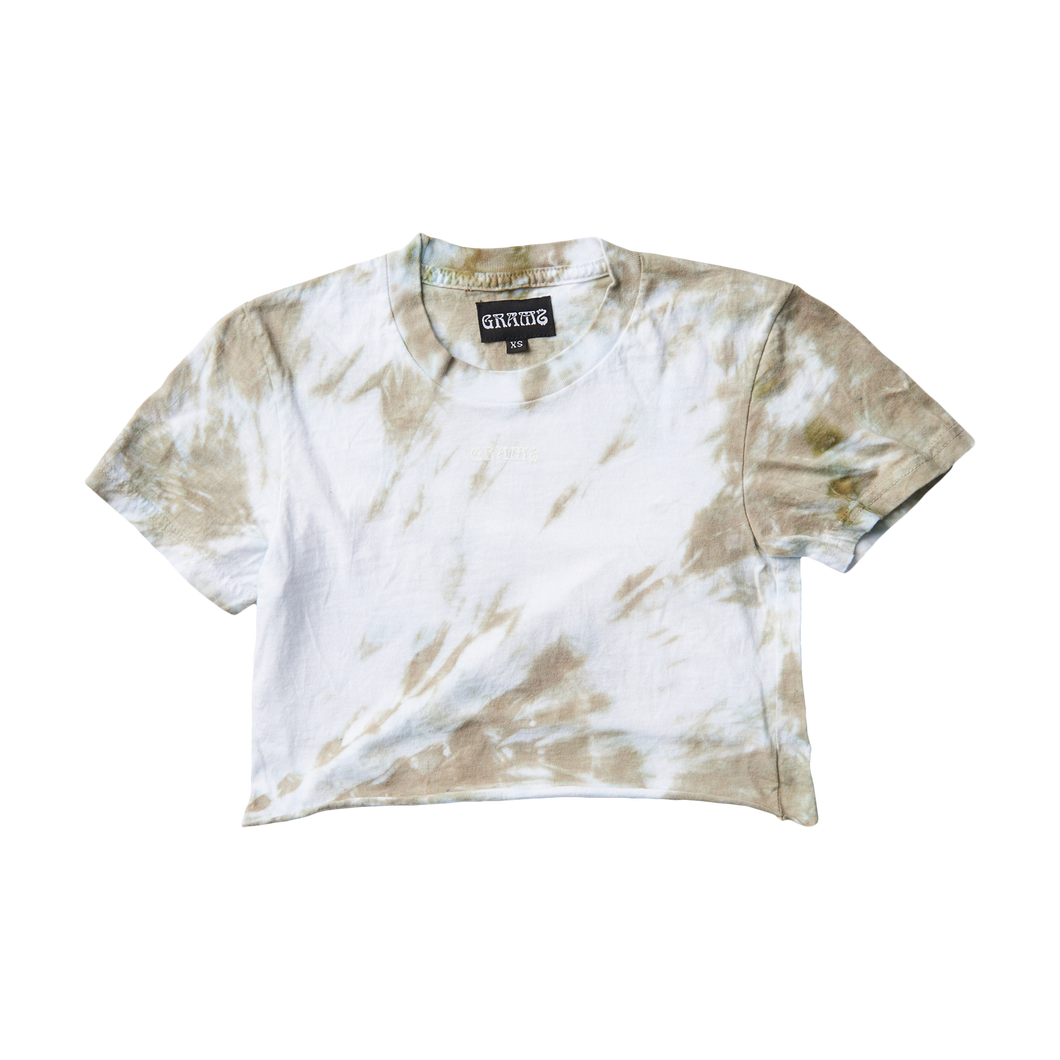 Tie Dye Crop Tee (Taupe/XS)