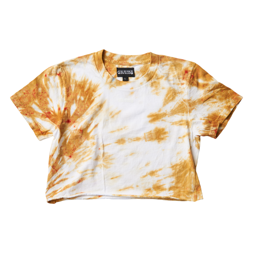 Tie Dye Crop Tee (Gold/Large)