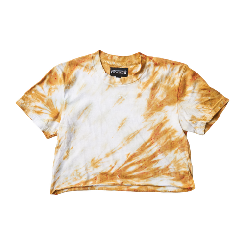 Tie Dye Crop Tee (Gold/Small)