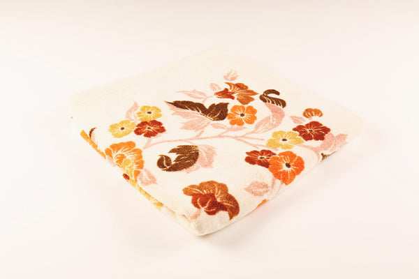 Orange & Brown Floral Towel