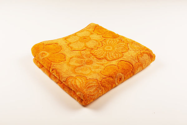 Orange Overlap Flower Towel