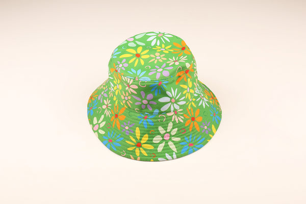 Green Garden Wide Brim Bucket Hat