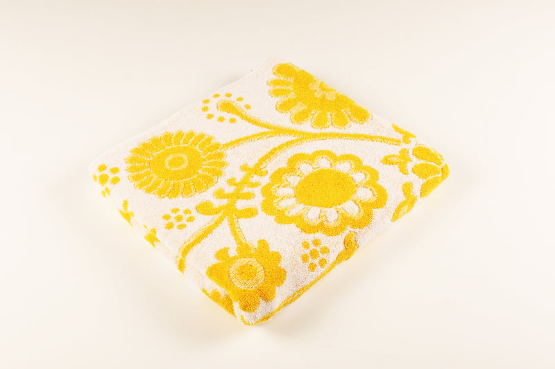 Yellow Floral Towel