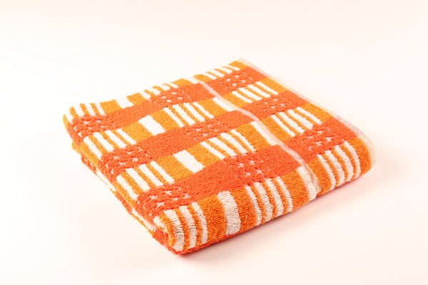 Red & Orange Striped Towel