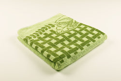 Green Lattice Flower Towel