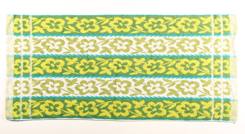 Green Hawaiian Floral Towel