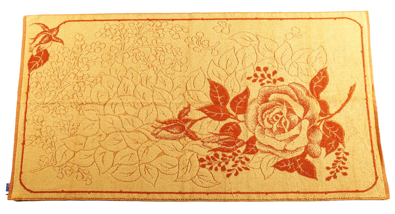 Mustard & Red Rose Towel