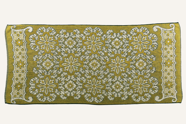 Olive & Black Floral Towel
