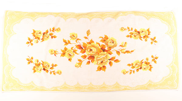 Orange, Yellow & Brown Floral Towel