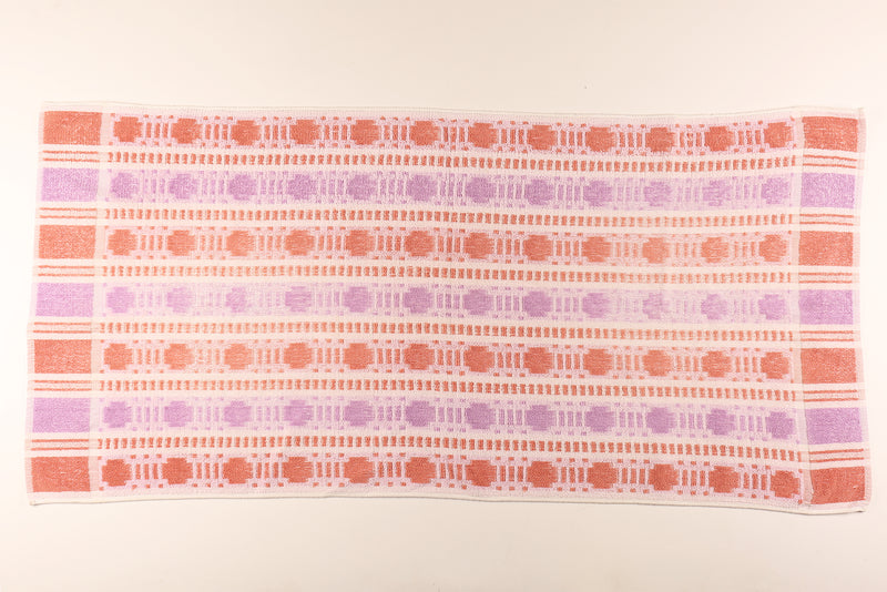 Dusty Pink & Purple Patterned Towel