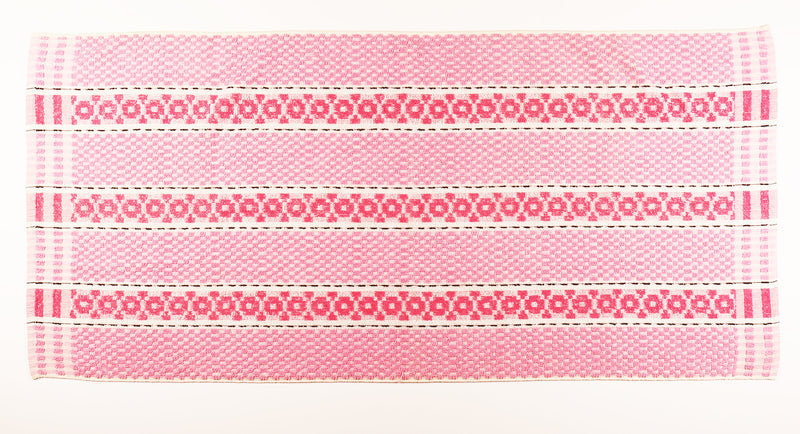 Pink & Black Striped Towel