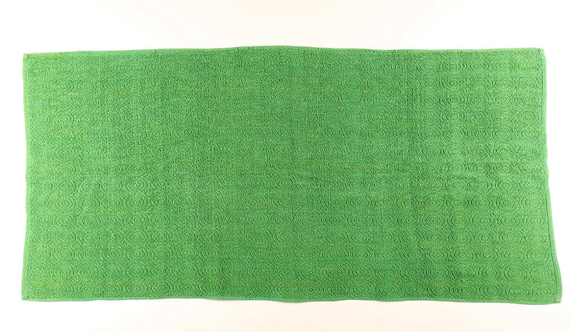 Green Textured Towel