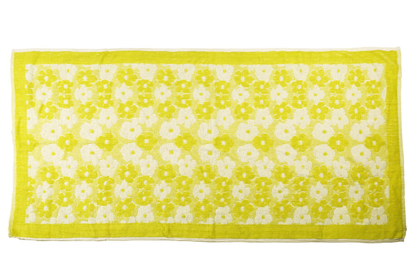 Lime Green Floral Towel