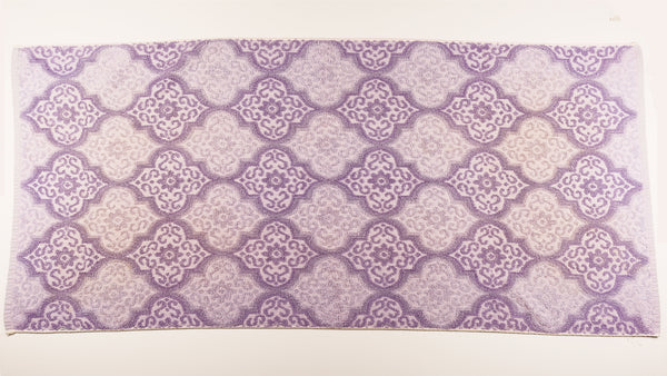 Two Tone Purple Tile Towel