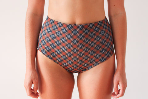 Abbie 'High' Bottom - Dark Tartan