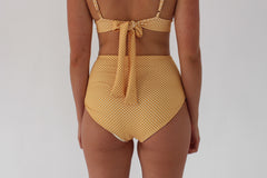 Abbie 'High' Bottom - Golden Yellow Check