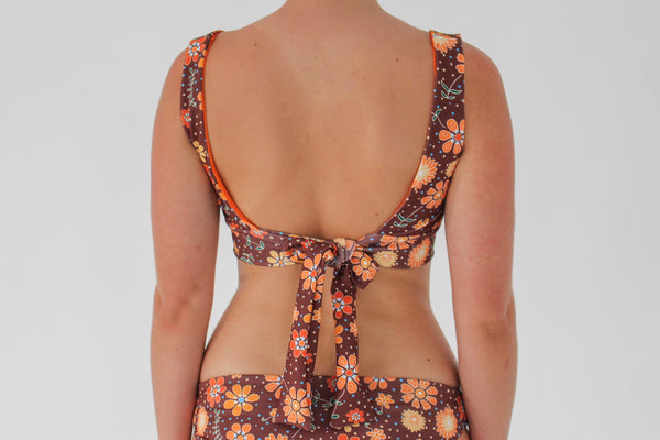 Amber Top - Chocolate Floral