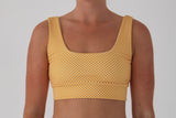 Amber Top - Golden Yellow Check