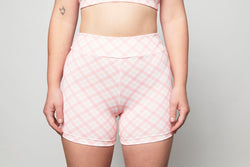 Bike Shorts - Pink Gingham
