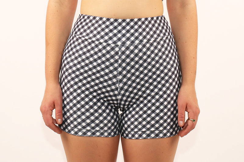 Bike Shorts - Black Gingham