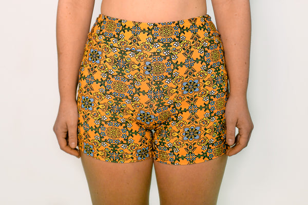 Bike Shorts - Tangerine Tile