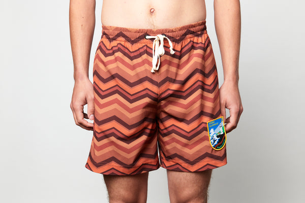 Recycled Brown Chevron Boardie
