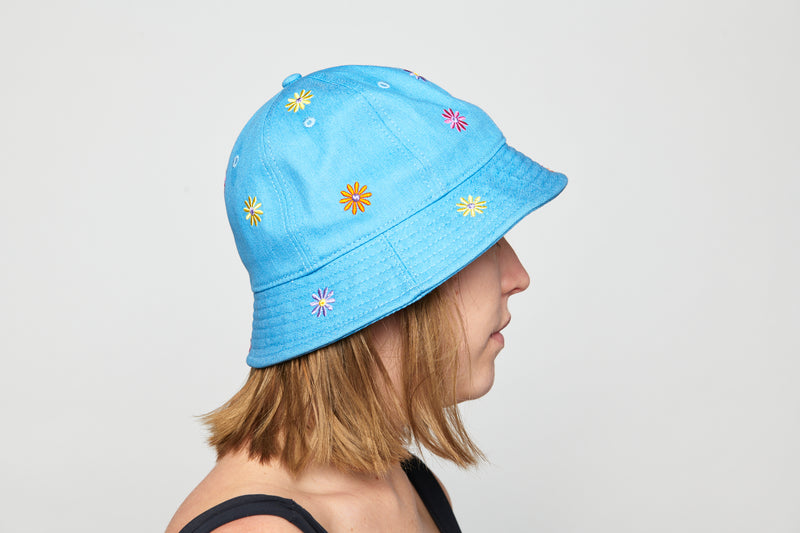Blue 'Lenny' Bucket Hat