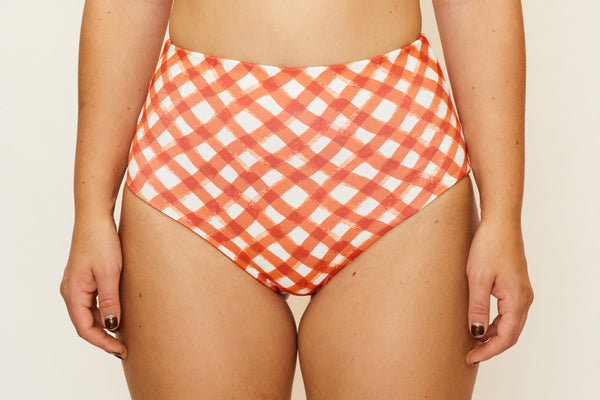 Abbie Bottom - Brushstroke Gingham