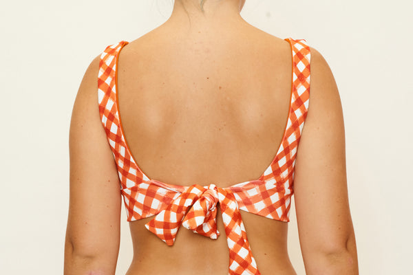 Amber Top - Brushstroke Gingham