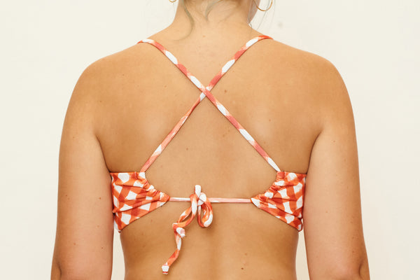 Casey Top  - Brushstroke Gingham
