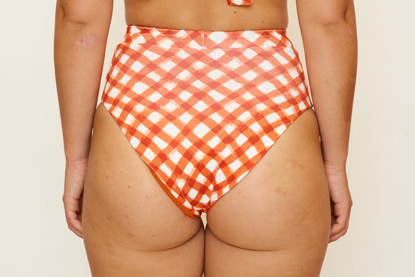 Cindy High Bottoms - Brushstroke Gingham