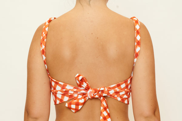 Madi Top - Brushstroke Gingham