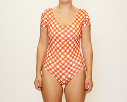 Tessa Full Piece - Brushstroke Gingham