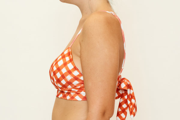 Zoe Top  - Brushstroke Gingham