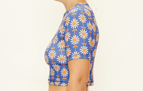 Cropped Rashie Top - Wallpaper Daisy