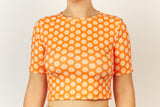 Cropped Rashie Top - Orange Daisy