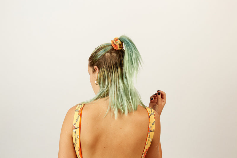 SCRUNCHIE - PAVONIA FLORAL