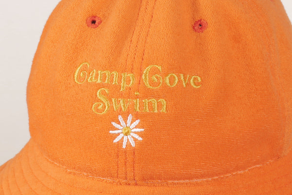 Orange Terry Bucket Hat