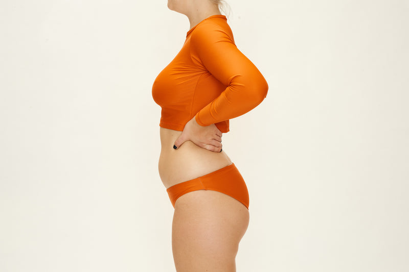 Long Sleeve Rashie Top - Orange Rust
