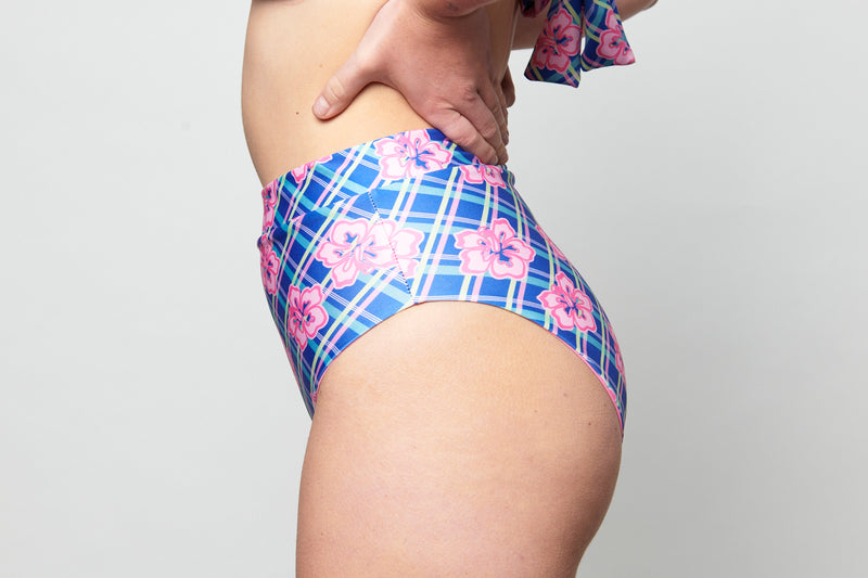 Cindy Bottom - Hibiscus Gingham