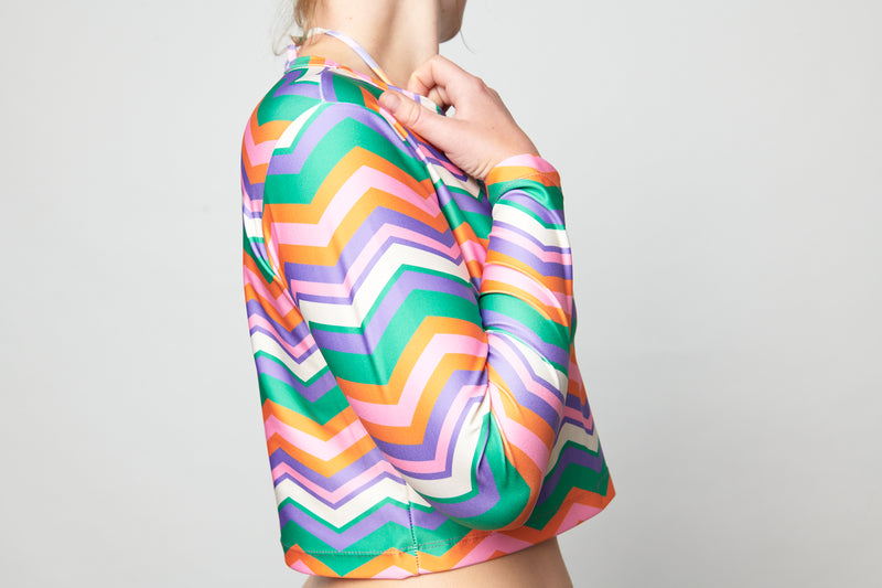 Long Sleeve Rashie Top - Chevron