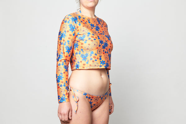 Long Sleeve Rashie Top - Sunshine Floral