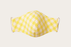 Lemon Gingham Face Mask