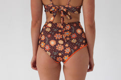 Katie 'High' Bottom - Chocolate Floral