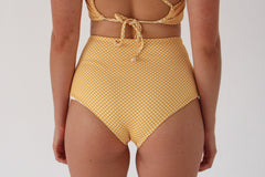 Katie 'High' Bottom - Golden Yellow Check