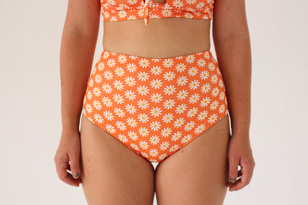 Katie 'High' Bottom - Orange Daisy