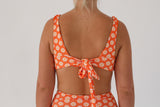 Lena Top - Orange Daisy