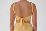 Madi Top - Golden Yellow Check